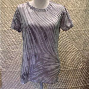 VICTORIA'S SECRET Gray Tie-Dyed Shirt PINK EUC